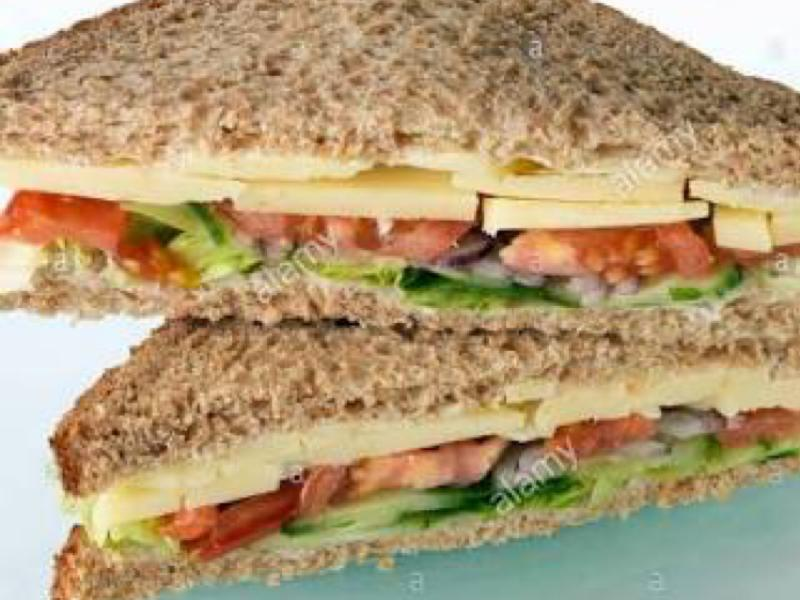 Cucumber, Tomato, Ham, and Cheese Sandwich Healthy Recipe