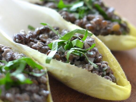 Cumin Lentils in Endive Leaves Healthy Recipe