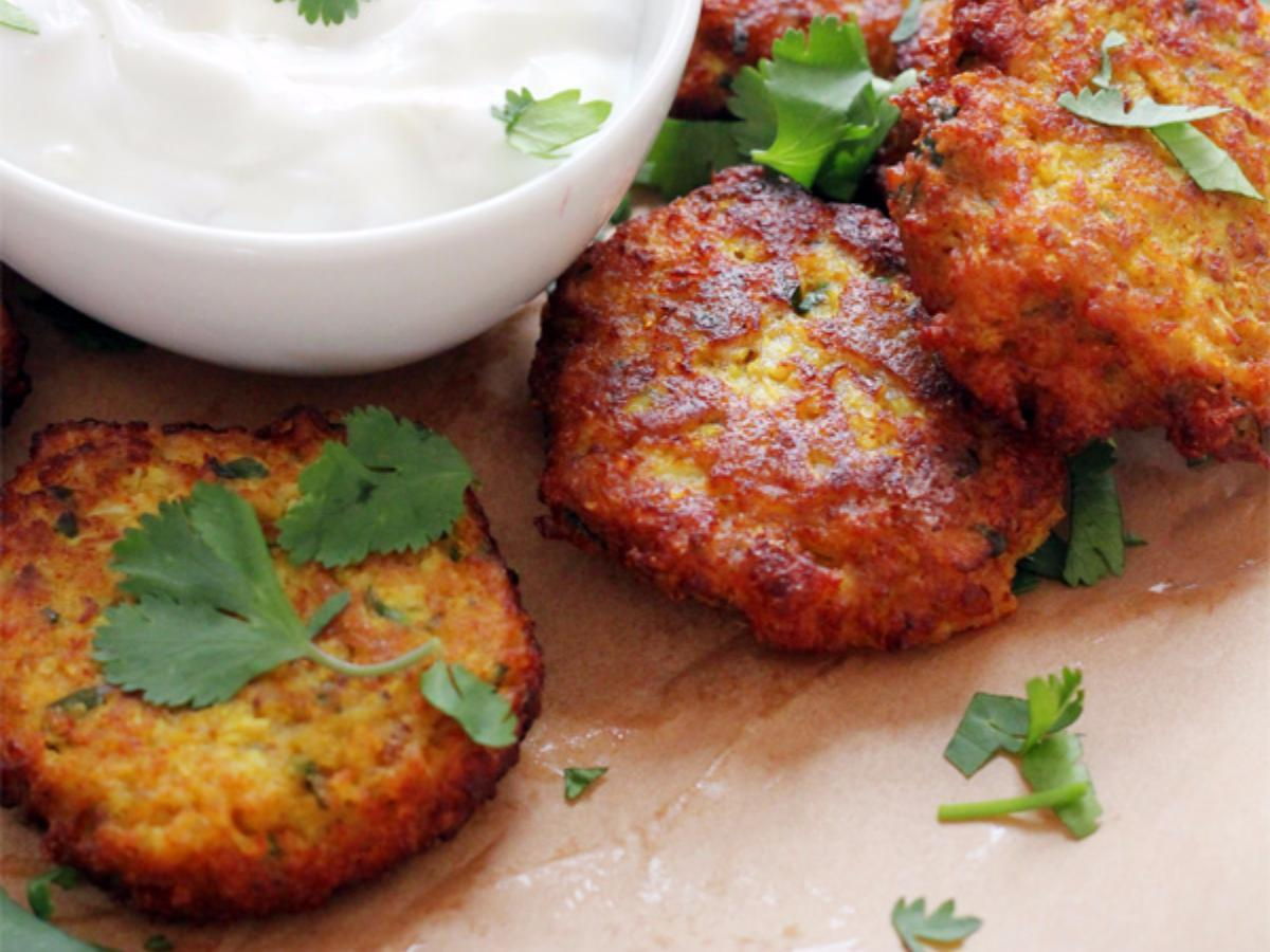 Curried Cauliflower Fritter Healthy Recipe
