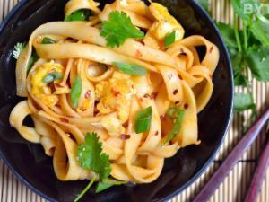 Dragon Noodles with Crab Healthy Recipe