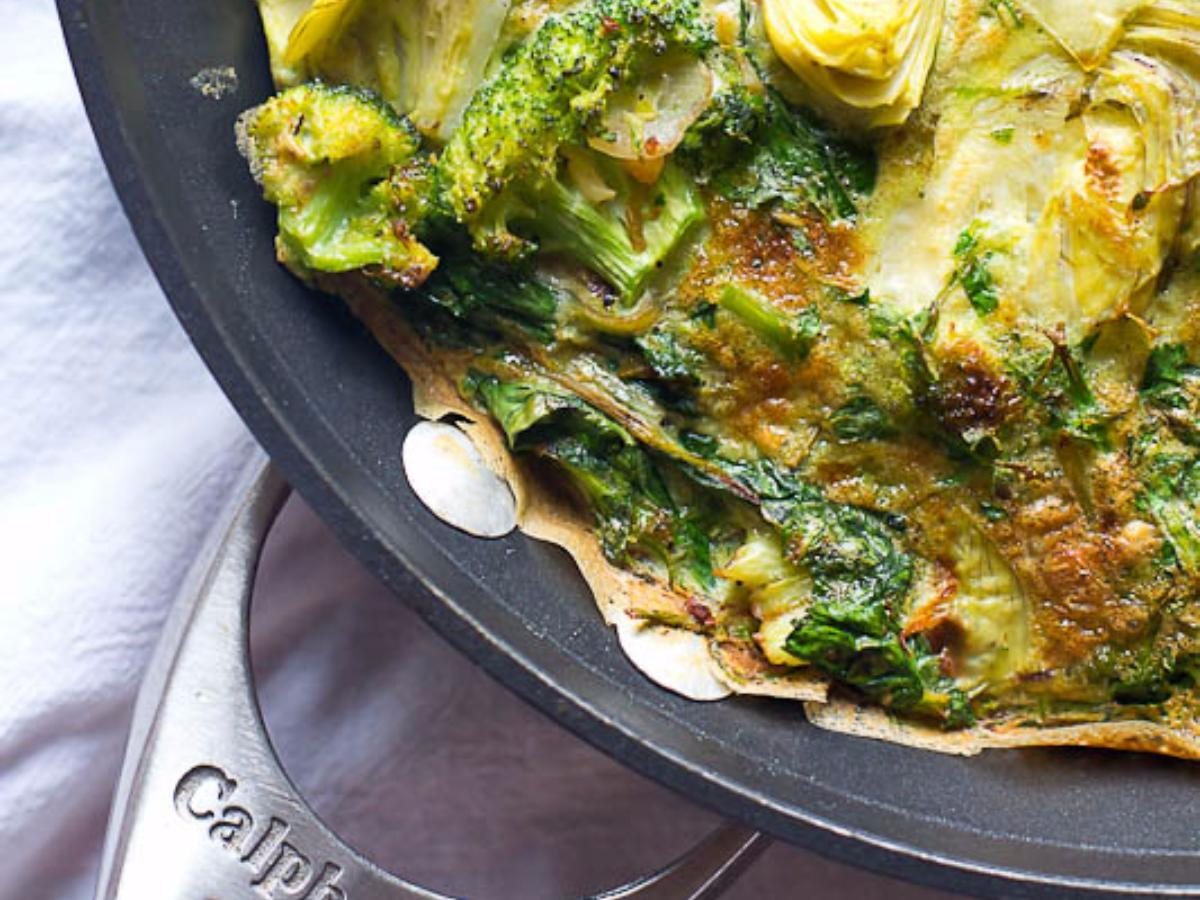 Easy Artichoke, Spinach, and Herb Frittata Healthy Recipe