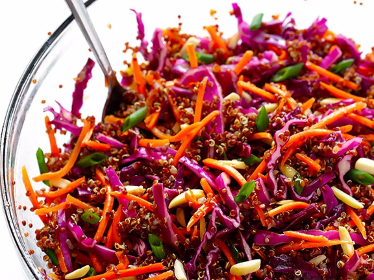Easy Asian Quinoa Slaw Healthy Recipe