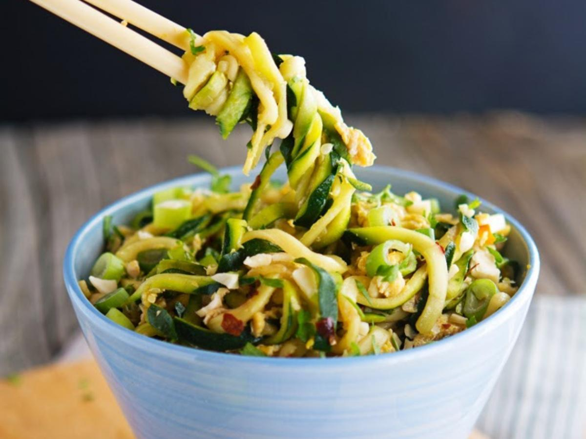 Easy Pad Thai Zoodles Healthy Recipe