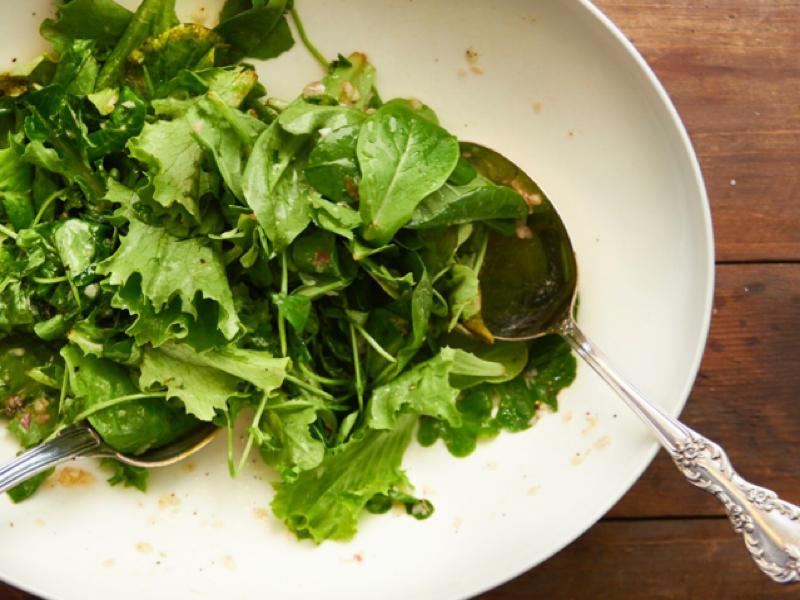 Easy Spinach and Scallion Salad Healthy Recipe