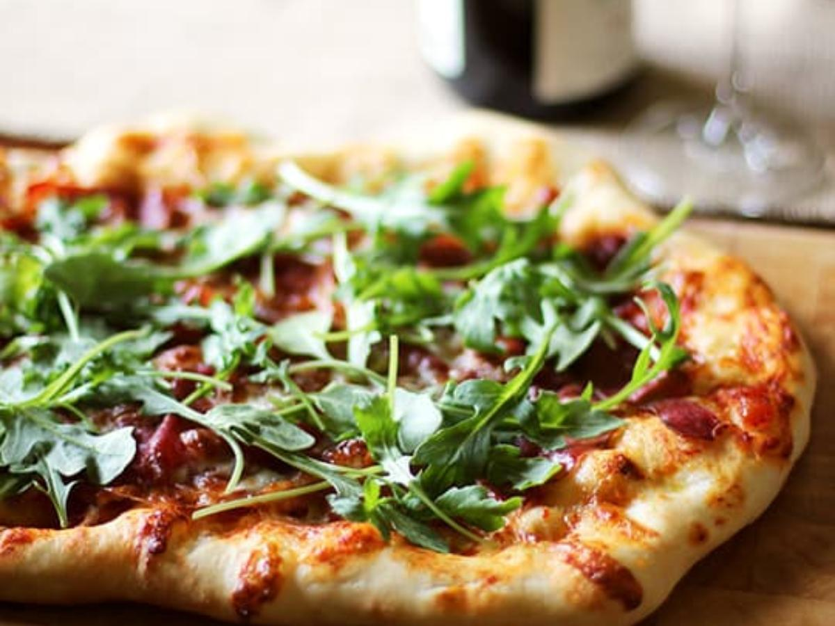 Easy Thin Crust Pizza with Spinach and Prosciutto Healthy Recipe