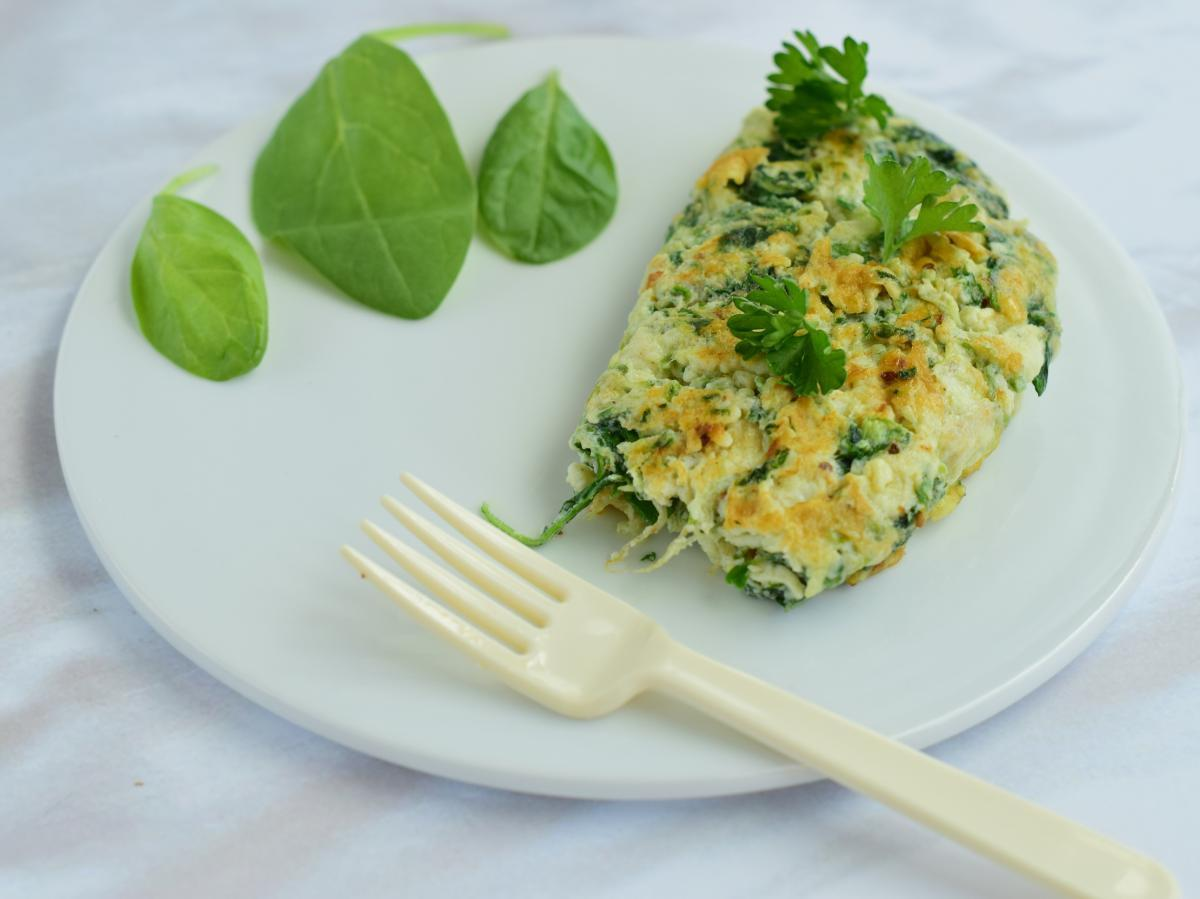 Egg White Spinach Omelet Healthy Recipe