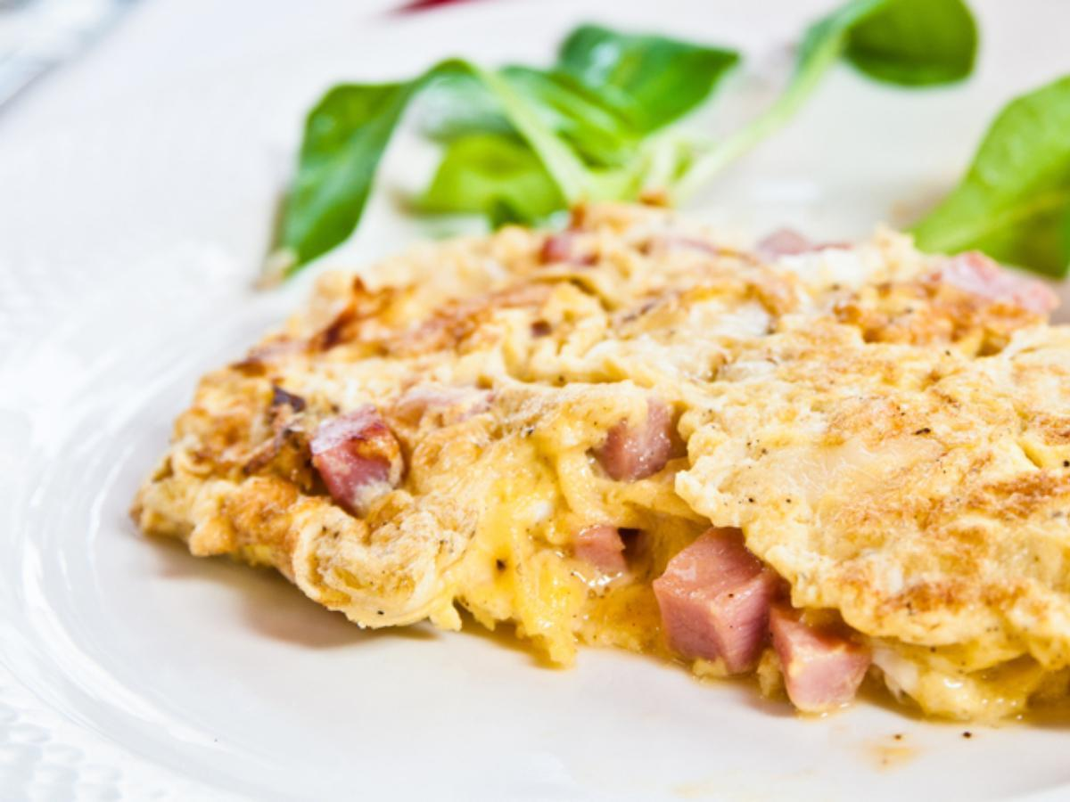 Eggs, Cheese, Turkey Sausage Omelet Healthy Recipe