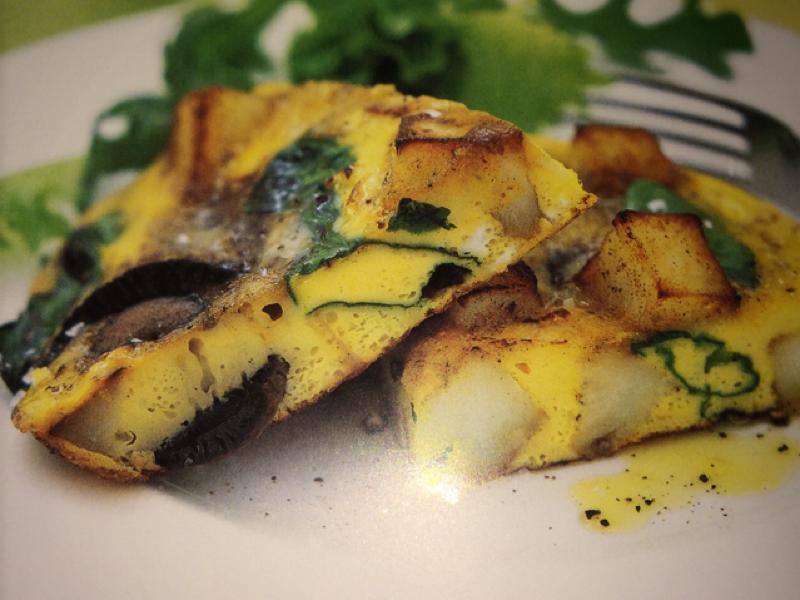 Field mushroom tortilla Healthy Recipe