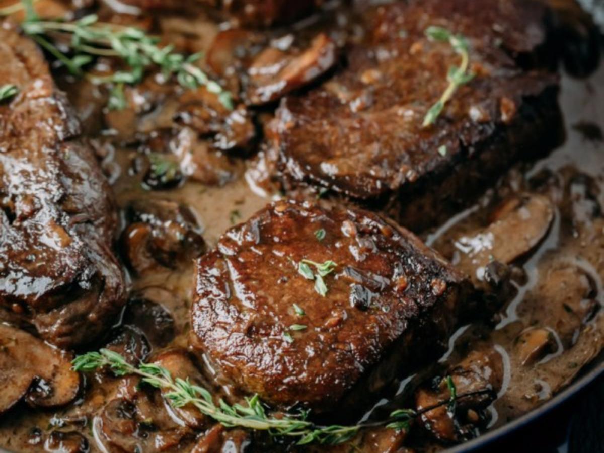 Filet Mignon in Mushroom Sauce Healthy Recipe