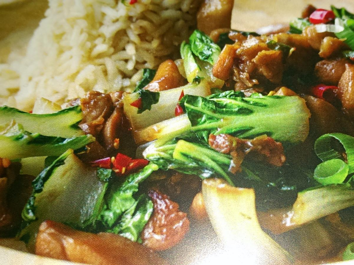 Five Spiced Chicken with Pak Choi Healthy Recipe