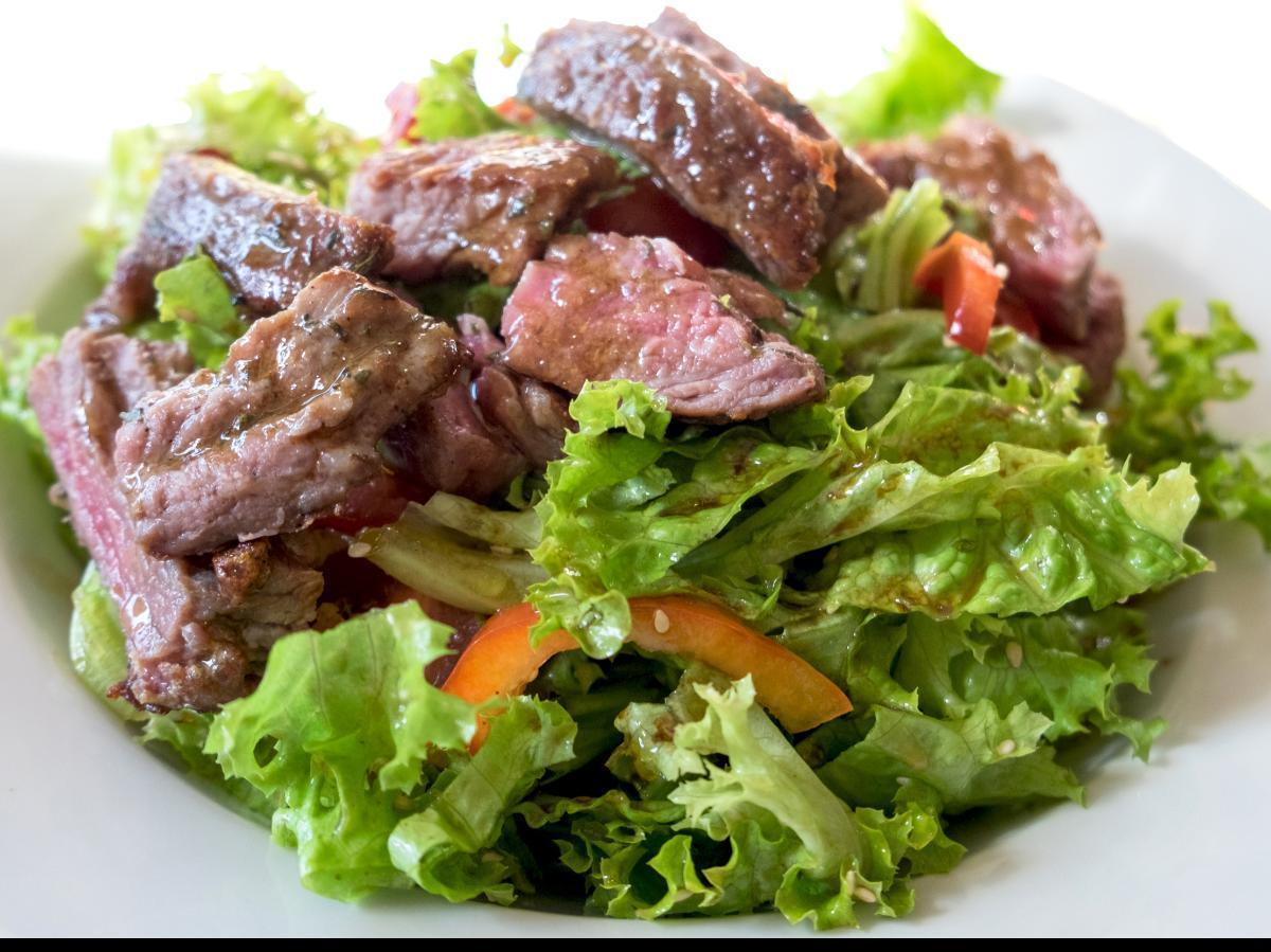 Flank Steak Salad with Chimichurri Dressing Healthy Recipe
