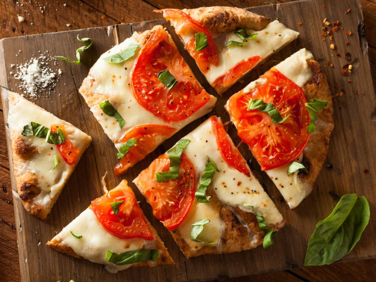 Flat Bread Pizza Healthy Recipe