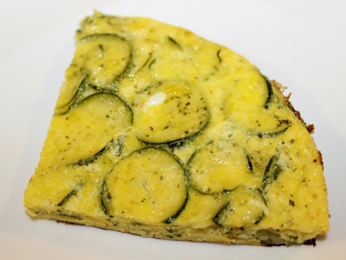 Fluffy Omelet with Cheese and Zucchini Healthy Recipe