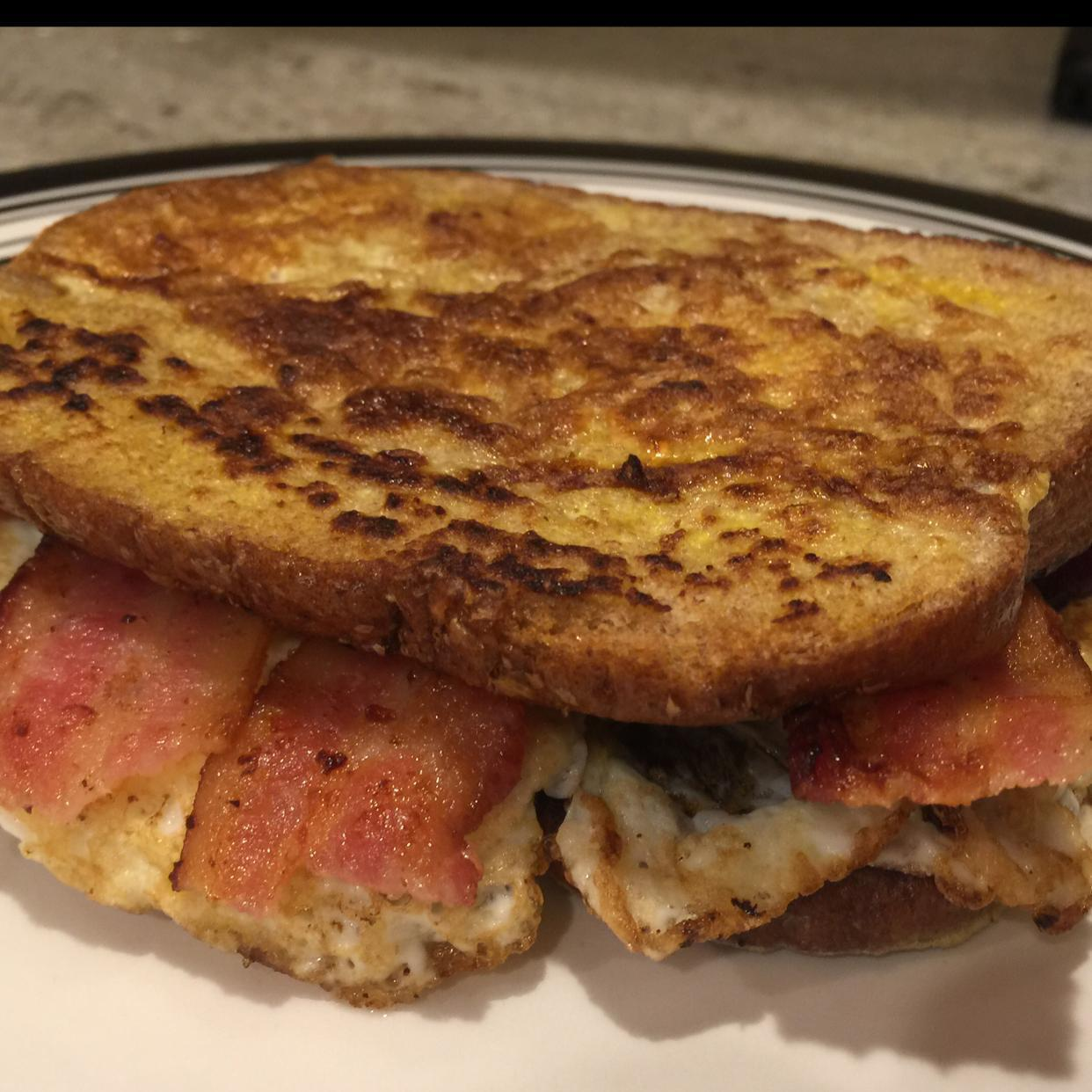 French Egg and Bacon Sandwich Healthy Recipe