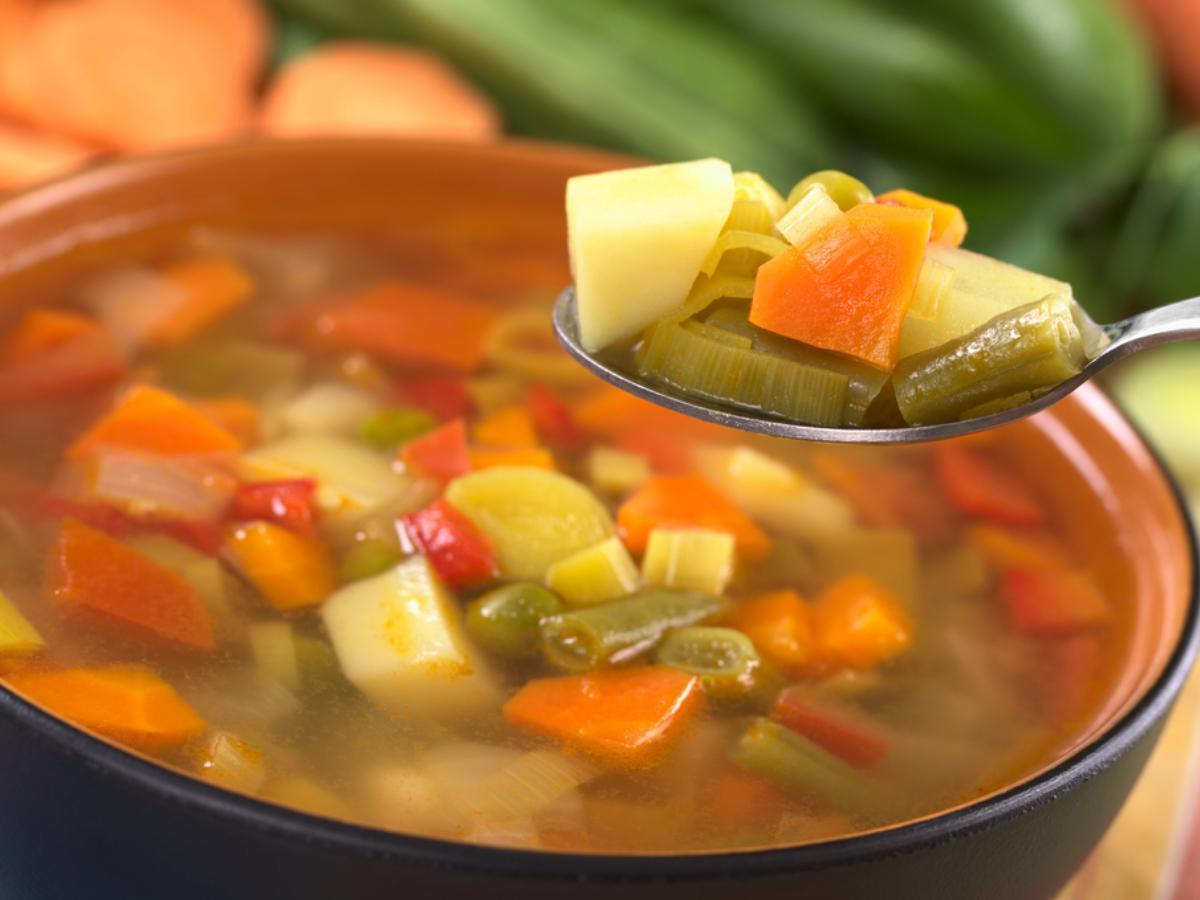 Friday Night Veggie Soup Healthy Recipe