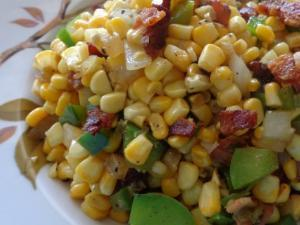 Fried Corn with Bacon Healthy Recipe