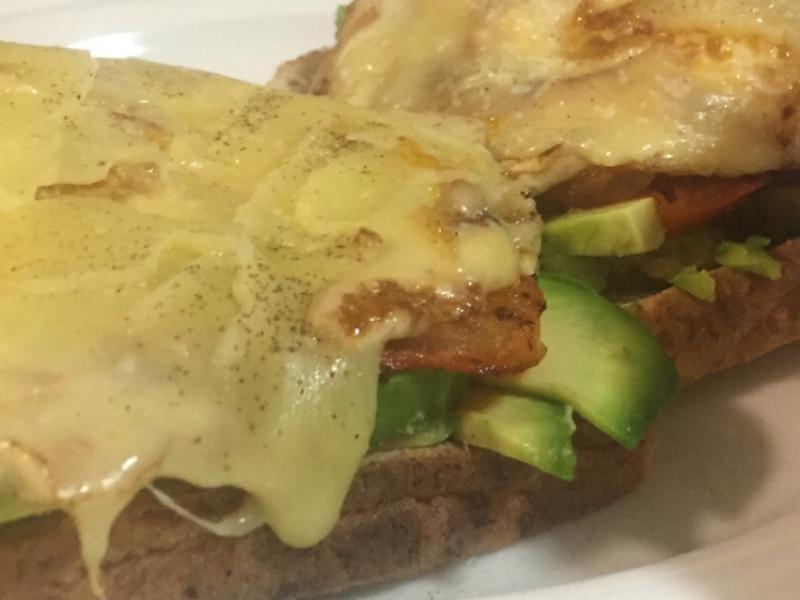 Fried Egg on Toast with Pepper Jack and Avocado Healthy Recipe