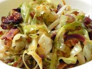 Fried Irish Cabbage with Bacon Healthy Recipe