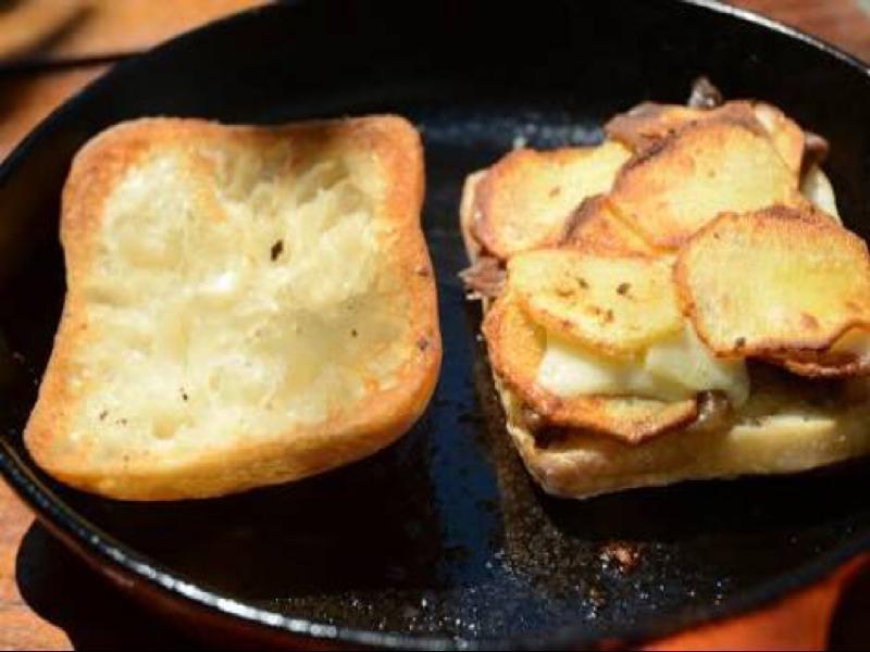 Fried Potato Sandwich Healthy Recipe
