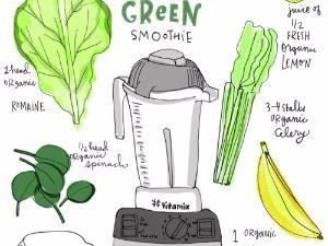 Fruity Green Smoothie  Healthy Recipe