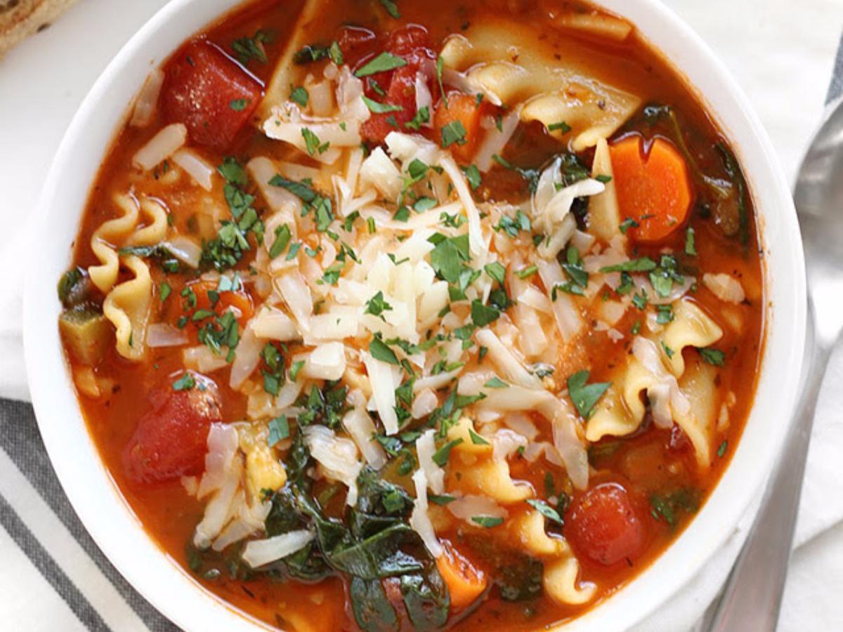 Garden Vegetable Lasagna Soup Healthy Recipe