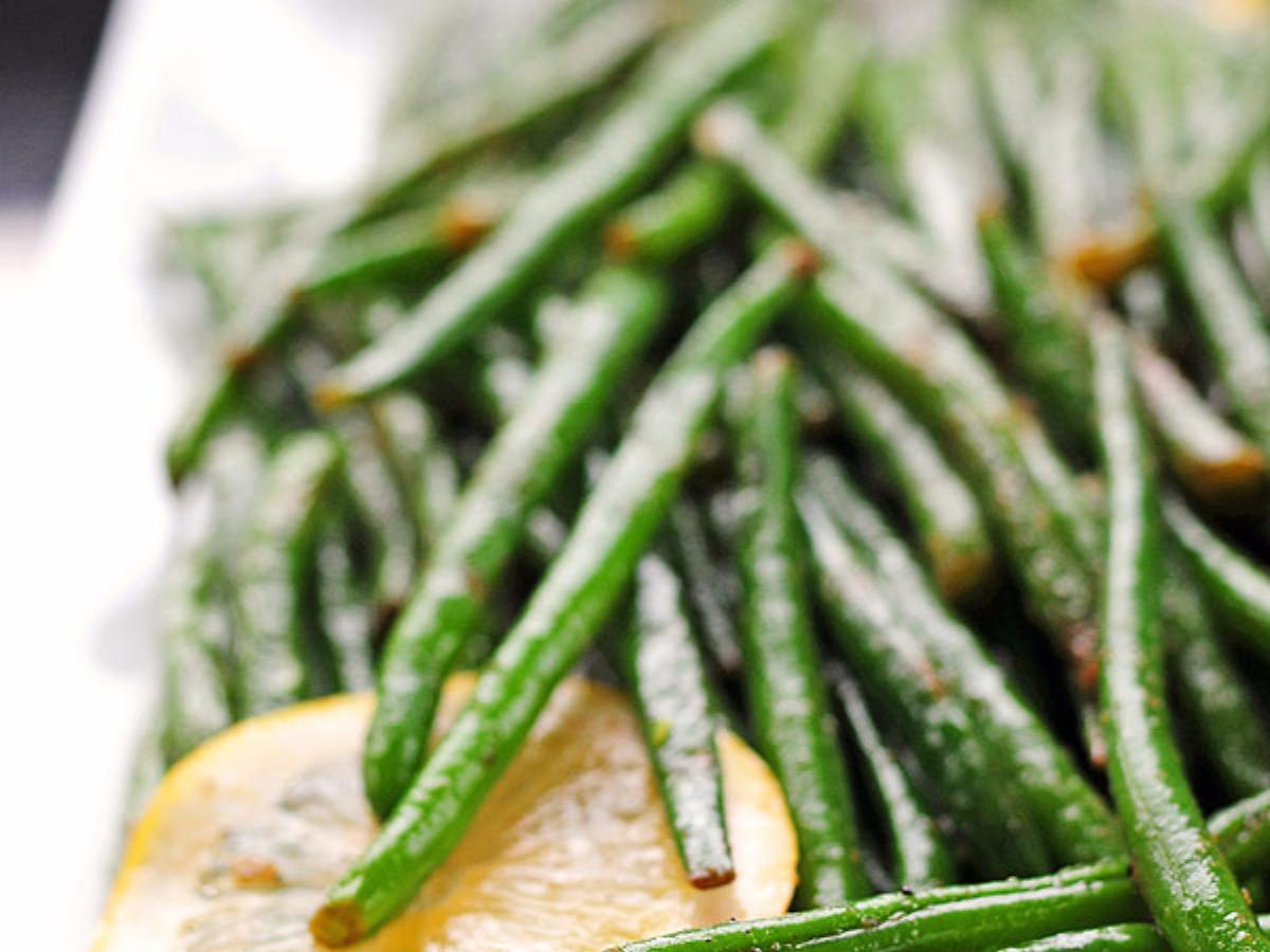 Garlic Lemon Green Beans Healthy Recipe