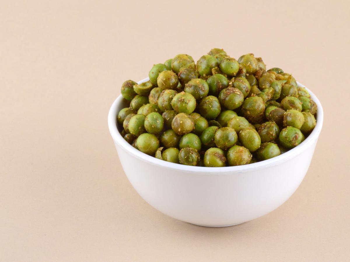 Garlic Roasted Peas Healthy Recipe