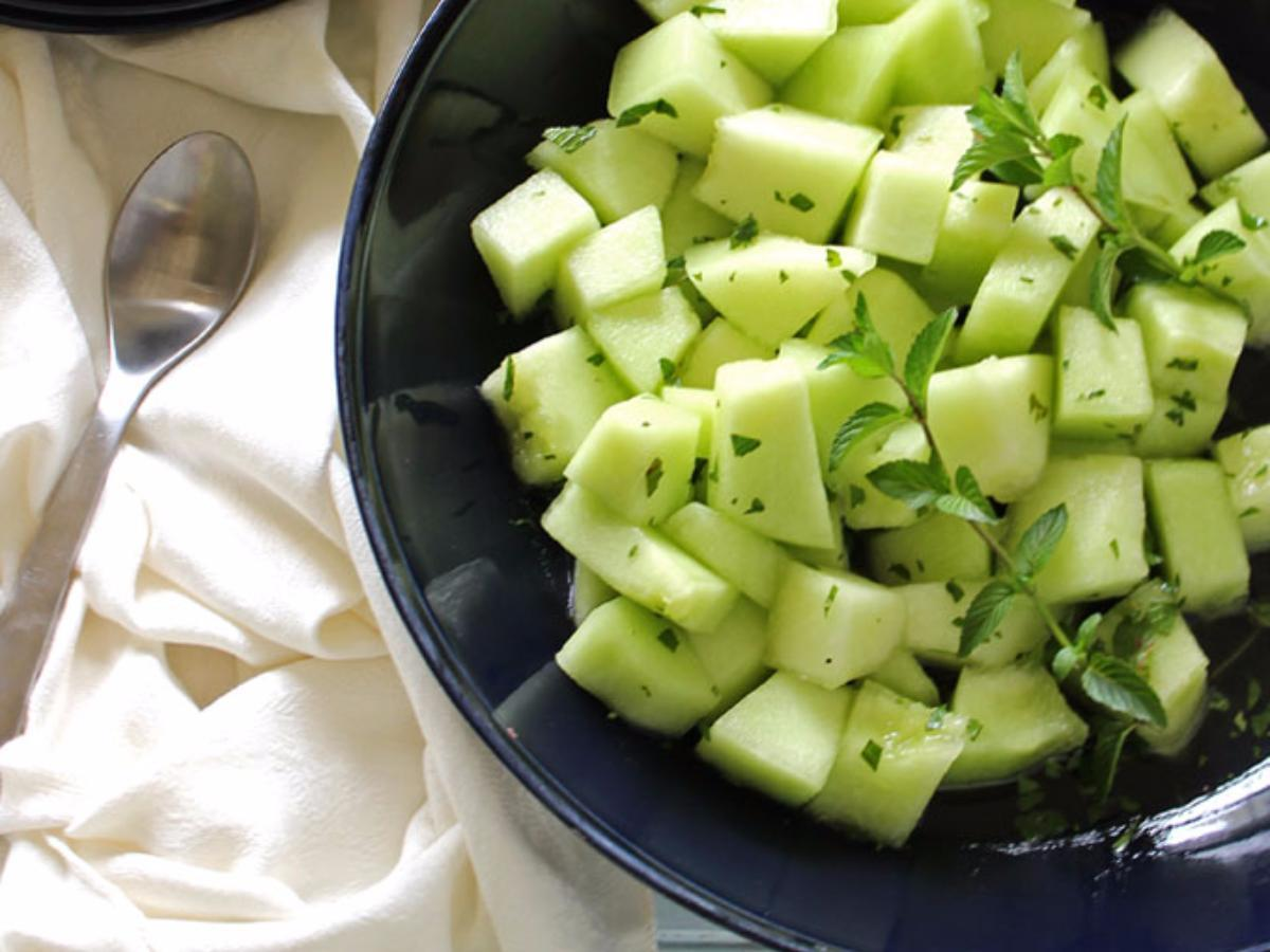 Ginger Melon with Mint Healthy Recipe