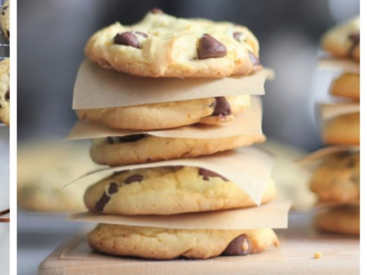 Gluten Free 4-Ingredient Chocolate Chip Cookies Healthy Recipe