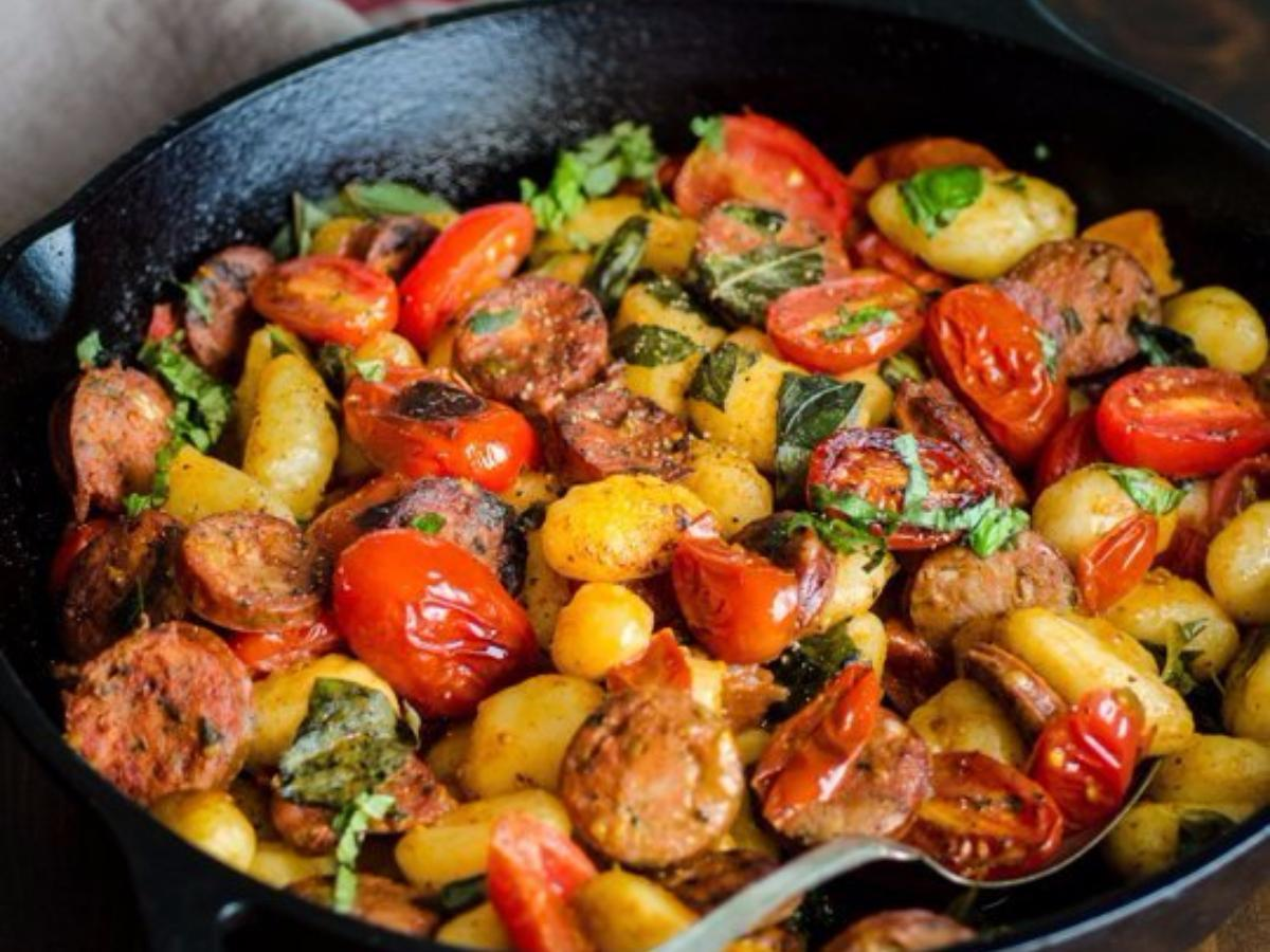 Gnocchi, Sausage, andTomatoes Healthy Recipe