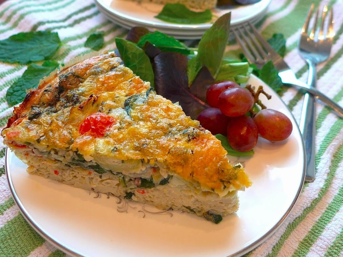 Greek Frittata  Healthy Recipe