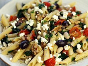 Greek Pasta with Tomatoes and White Beans Healthy Recipe