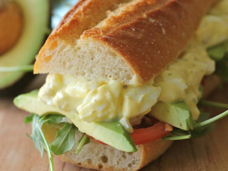 Greek Yogurt Egg Salad Sandwich Healthy Recipe