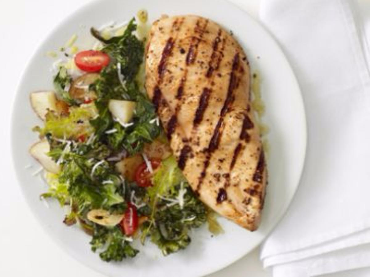 Grilled Chicken with Roasted Kale Healthy Recipe