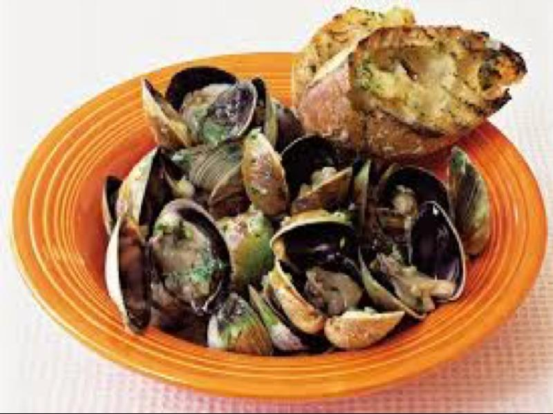 Grilled Clams with Lemon-Ginger Butter and Grilled Baguette Healthy Recipe