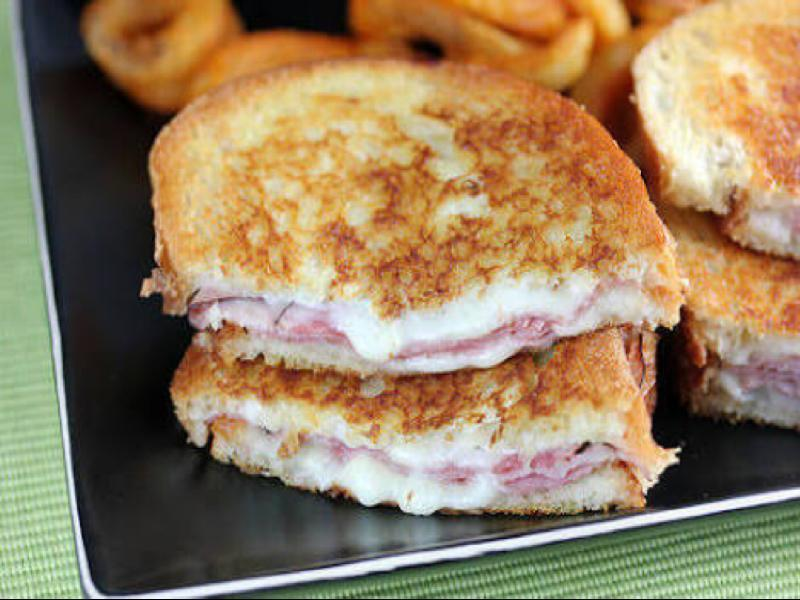 Grilled Ham and Monterey Cheese Sandwich Healthy Recipe
