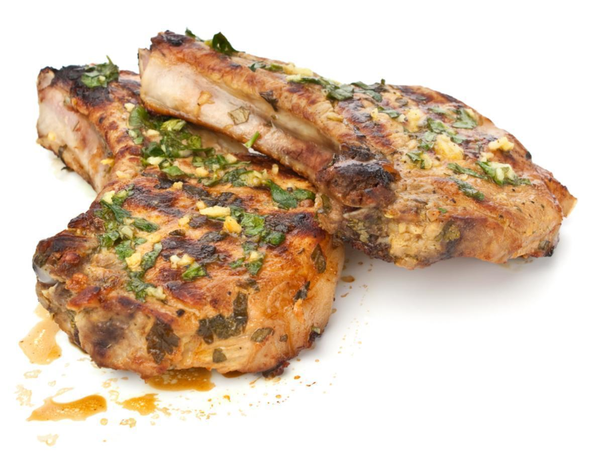 Grilled Pork Chops with Garlic Lime Sauce Healthy Recipe