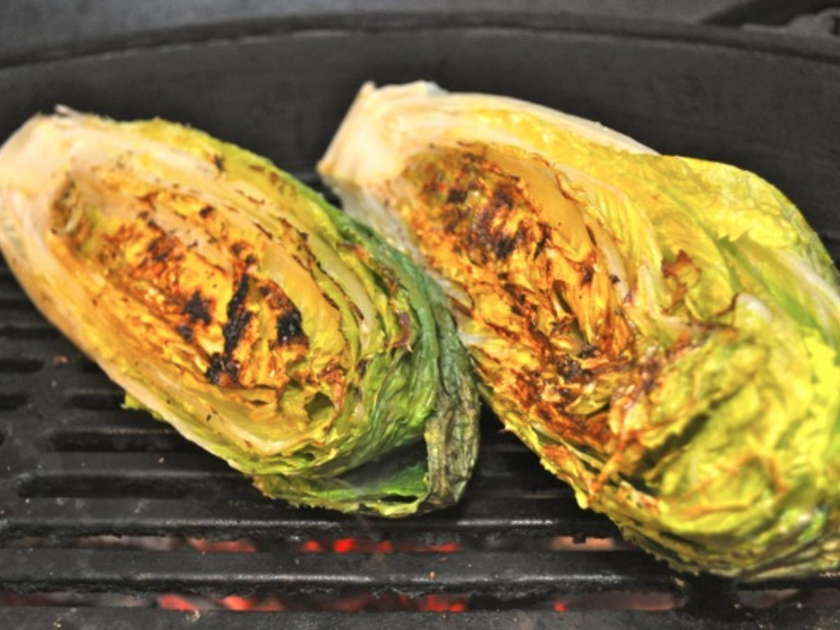 Grilled Romaine with Lemon Healthy Recipe