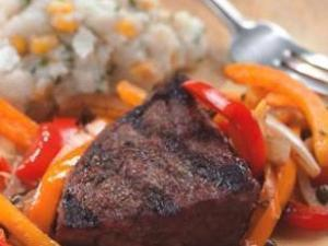 Grilled Steak with Pepper Relish Healthy Recipe