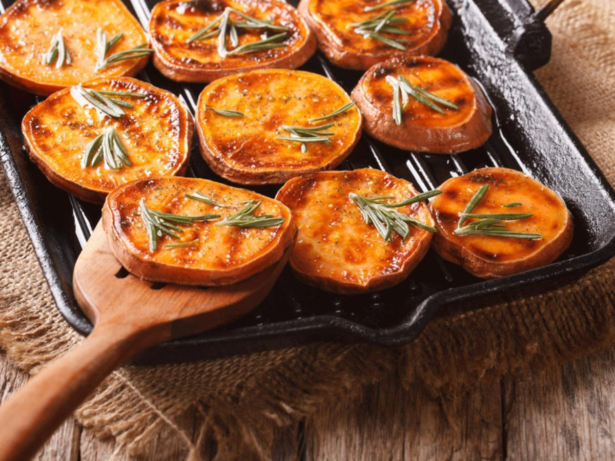 Grilled Sweet Potatoes, Onion, and Bell Pepper Healthy Recipe