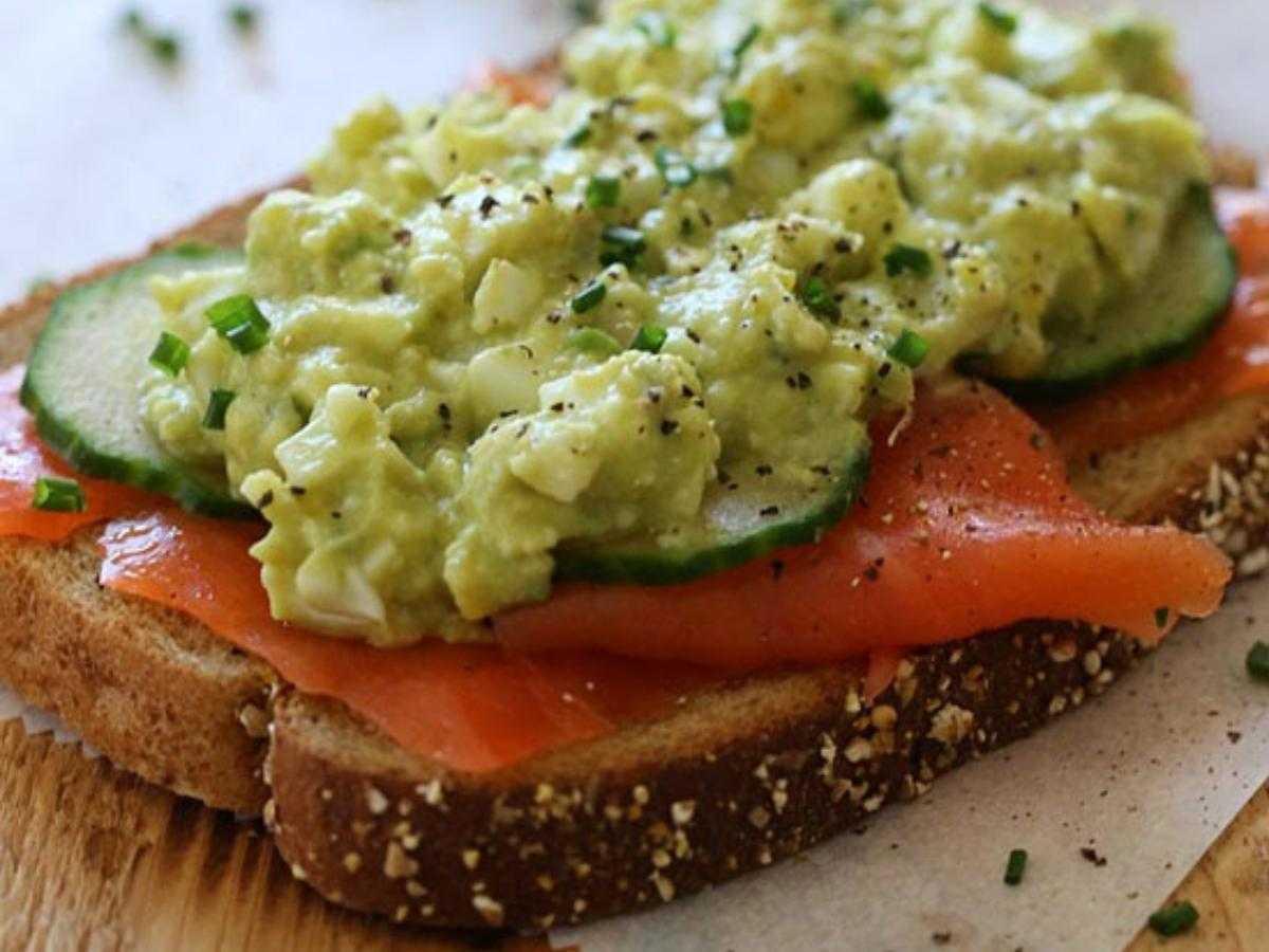 Healthy Avocado Egg Salad and Salmon Sandwich Healthy Recipe