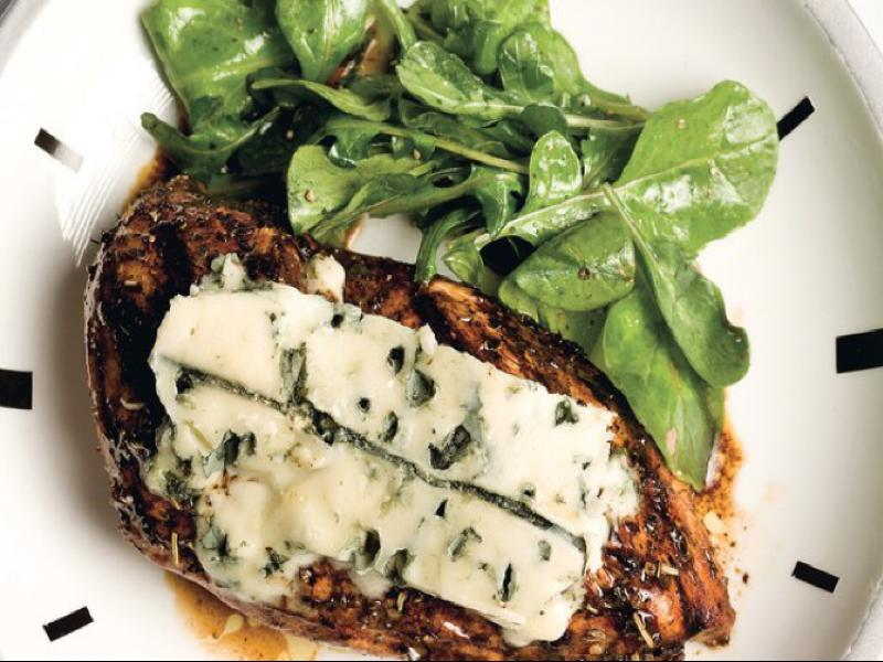 Herbed Balsamic Chicken with Blue Cheese Healthy Recipe