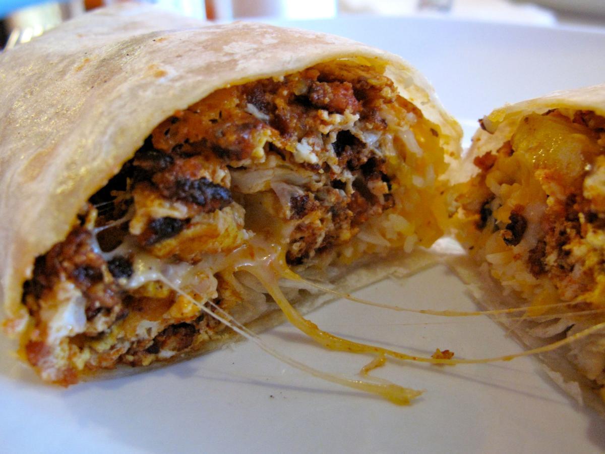 High Fat Chorizo, Cheese, and Egg Burrito Healthy Recipe