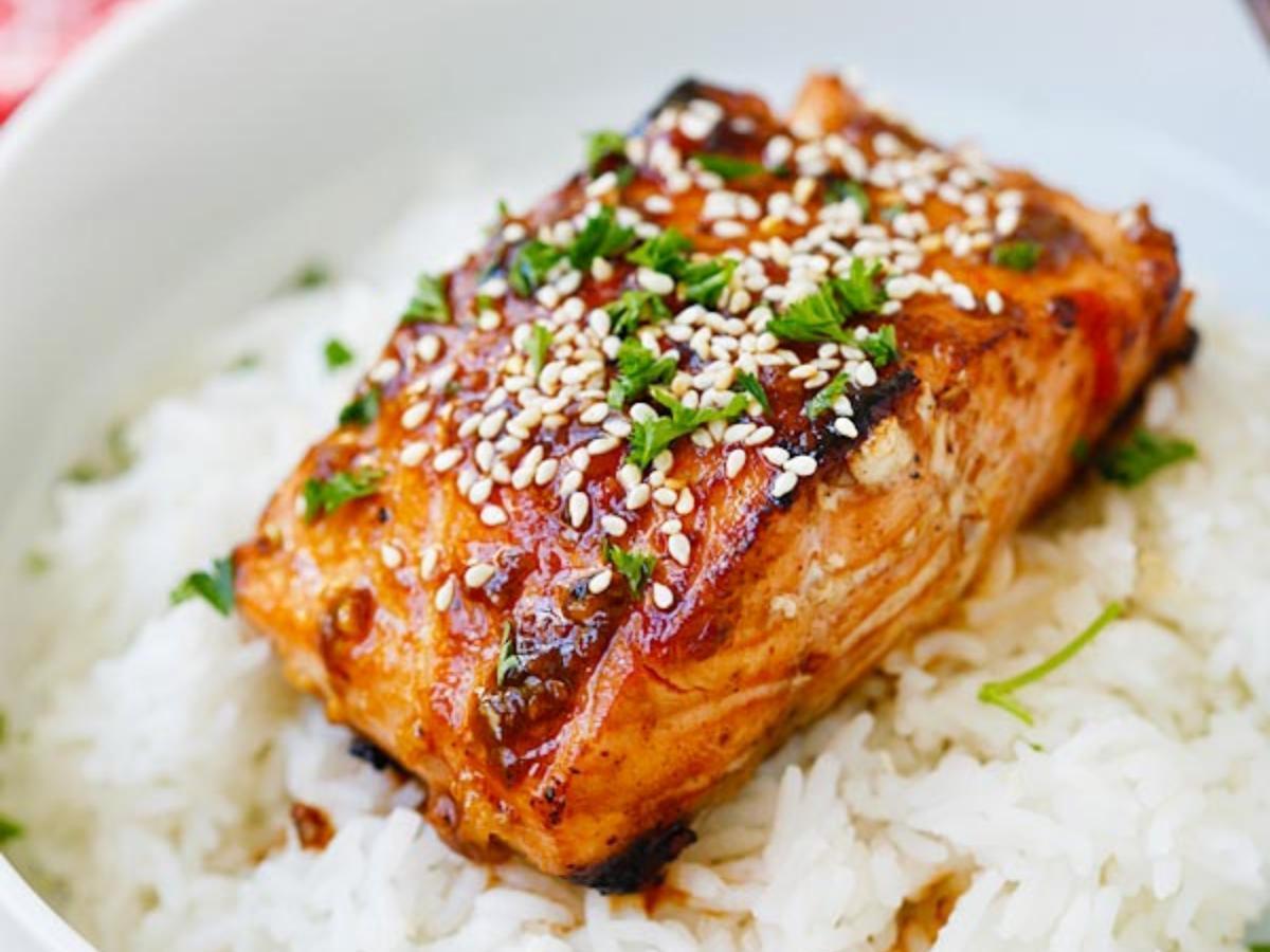 Honey Sriracha Salmon Healthy Recipe