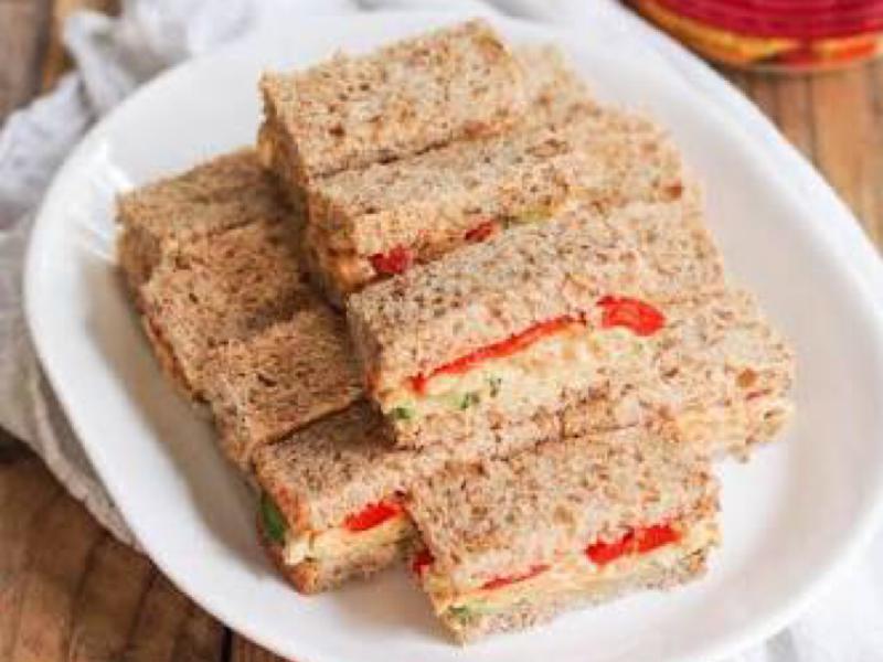 Hummus Chickpea Snack Sandwiches Healthy Recipe