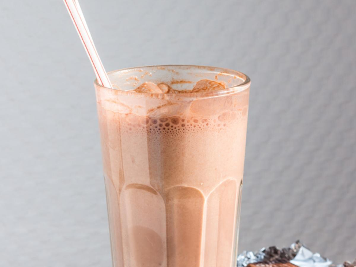 Ice-Blended Coffee & Peanut Butter Protein Shake Healthy Recipe