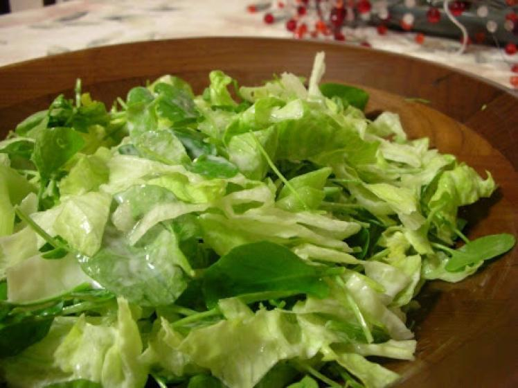 Iceberg and Watercress Salad with Blue Cheese Dressing Healthy Recipe