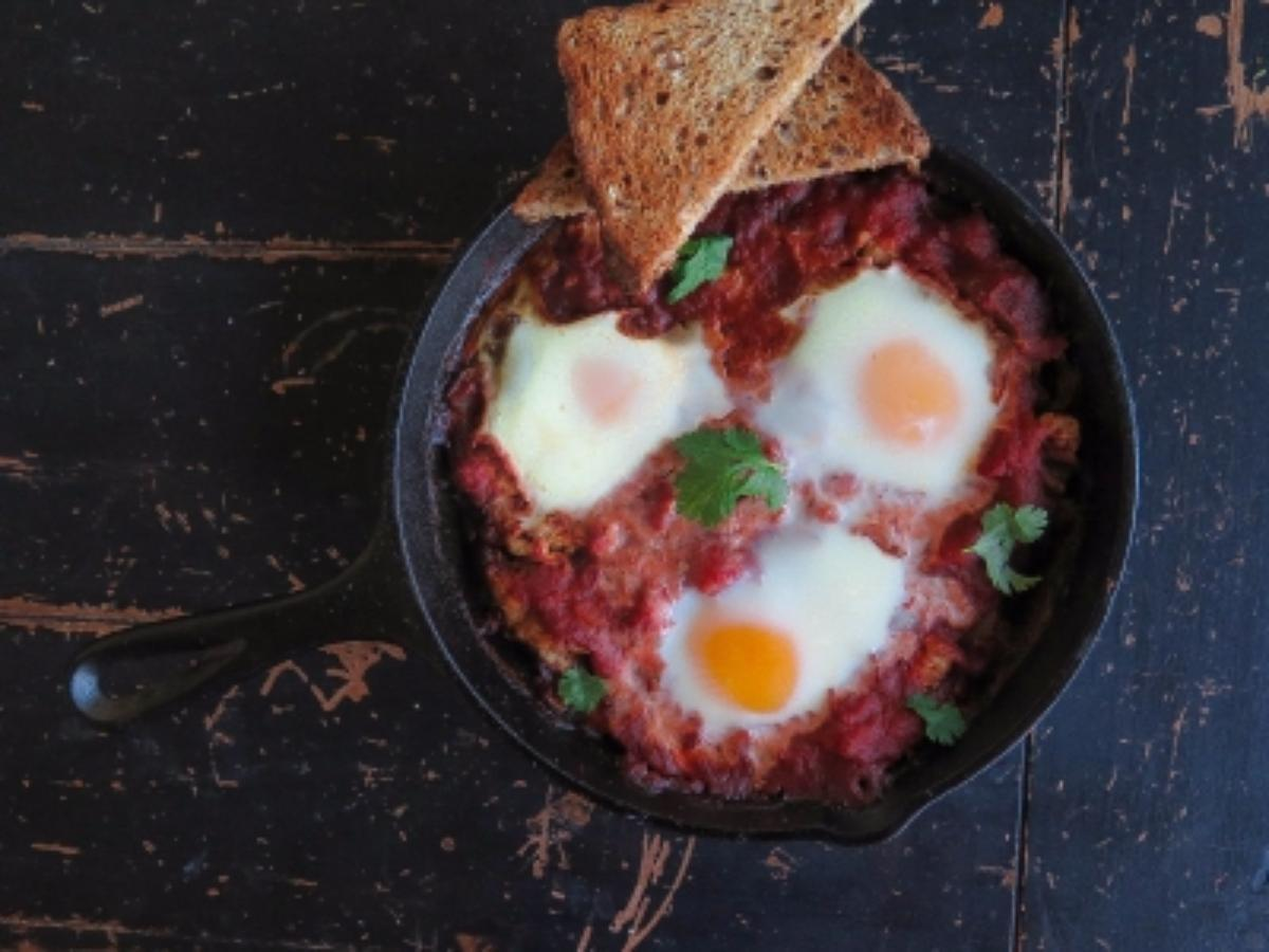 Italian Baked Eggs Healthy Recipe