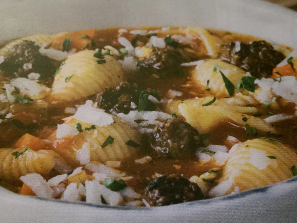 Italian Polpetti Soup with Pasta Healthy Recipe
