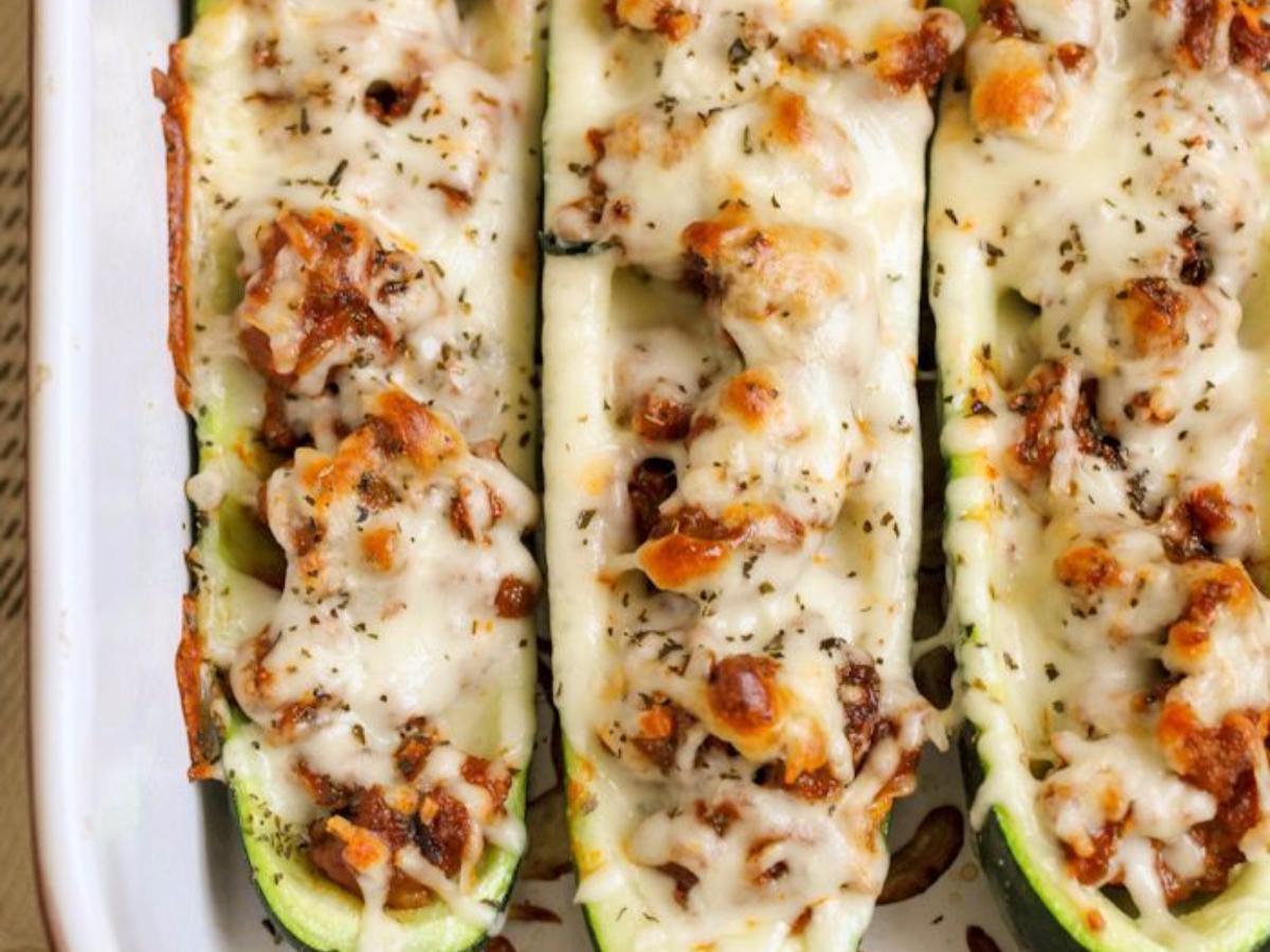 Italian Sausage Zucchini Boats Healthy Recipe